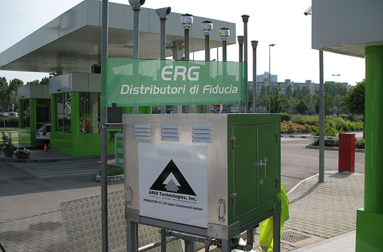ERG Petroli S.p.A - Green Gas Station, in Bologna, Italy